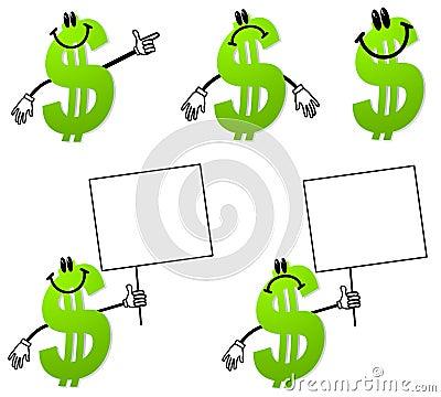 Money Dollar Sign Cartoons