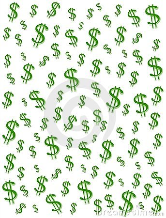 money and cash symbol background illustration of green dollar signs ...