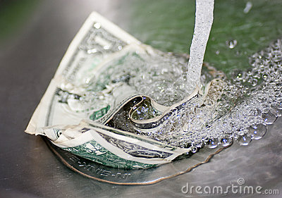 Money down in the drain