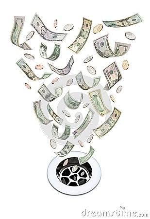 Money Down The Drain Waste