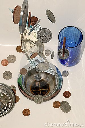 Free Money Down The Drain 6 Stock Photography - 1893832