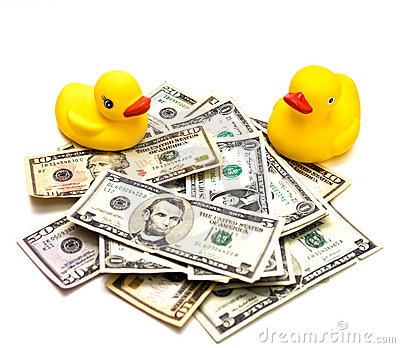 Money and Duck Toys