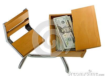 Money for Education inside Desk