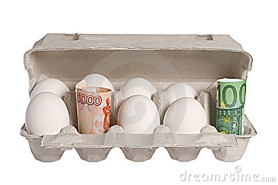 Money And Eggs Royalty Free Stock Image - Image: 16468646