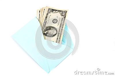 Money in envelope, gift.