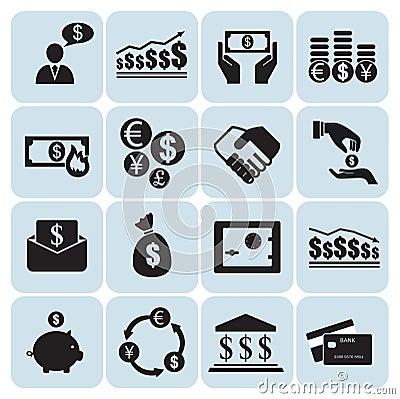 Money, finance icons