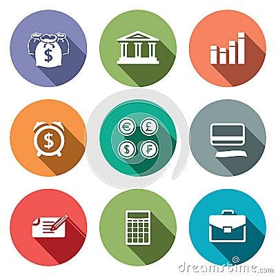 Free Money Finance Icons Set Royalty Free Stock Photo - 44660855