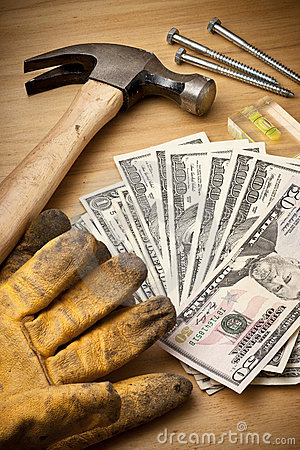 Free Money Finance Renovation Tools Work Stock Images - 18129174