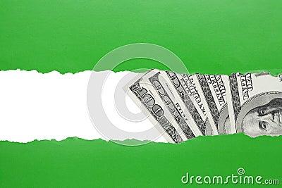 Money find concept