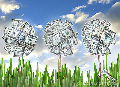 Money Flowers Royalty Free Stock Images - Image: 9781689