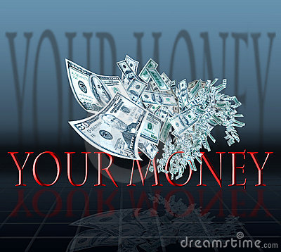 Free Money Flying Royalty Free Stock Photography - 4246257