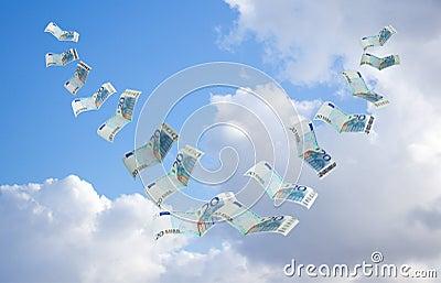 Money flying away