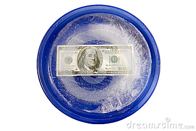 Money With Freezer Burn On A Plate - XXXL