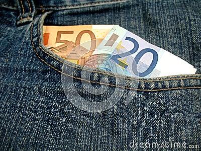 Money in front pocket