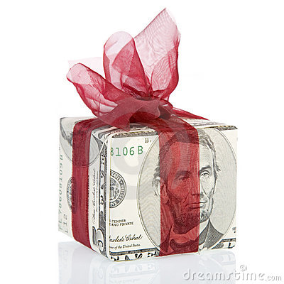 Free Money Gift Box Of 5 Dollar Royalty Free Stock Image - 1894166