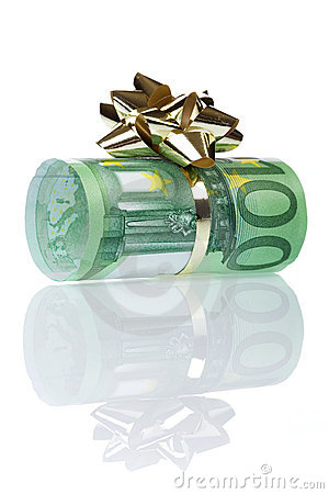 Free Money Gift Of 100 Euro Stock Images - 1834884