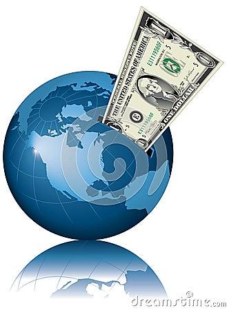 Free Money Globe Royalty Free Stock Image - 4870416