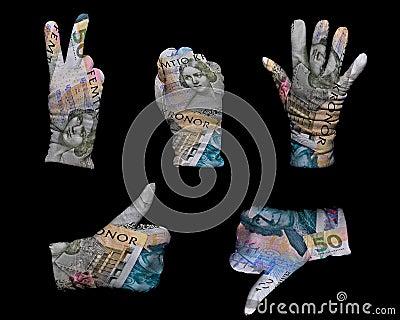 Money gloves