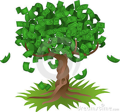 Free Money Growing On Tree Royalty Free Stock Images - 4960689