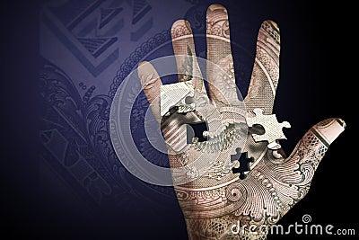 Money Hand Puzzle