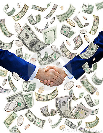 Free Money Handshake Deal Investors Royalty Free Stock Photos - 10336118