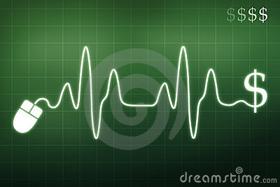 Royalty Free Stock Photo: Money in a heartbeat