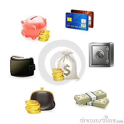 Free Money Icon Set Royalty Free Stock Photos - 20164378