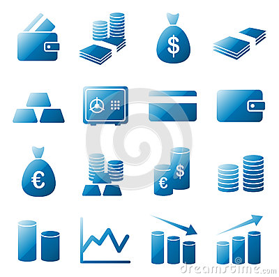 Free Money Icon Set Stock Photography - 49189472