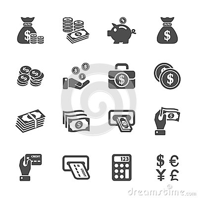 Free Money Icon Set, Vector Eps10 Stock Photos - 46307213