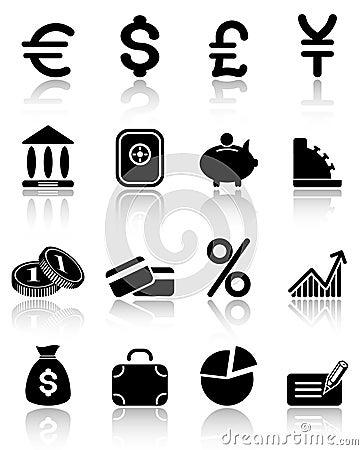 Free Money Icons Stock Image - 2939281