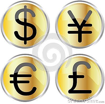 Free Money Icons Stock Photo - 6230130