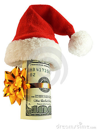 Free Money In A Christmas Hat Stock Photo - 3727720