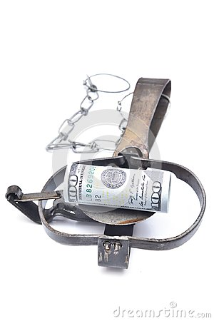 Free Money In A Trap Stock Photo - 102488580