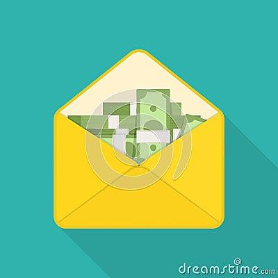 Free Money In Envelope. Royalty Free Stock Photo - 85498975