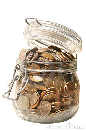 Free Money In Glass Jar Stock Photography - 2996192
