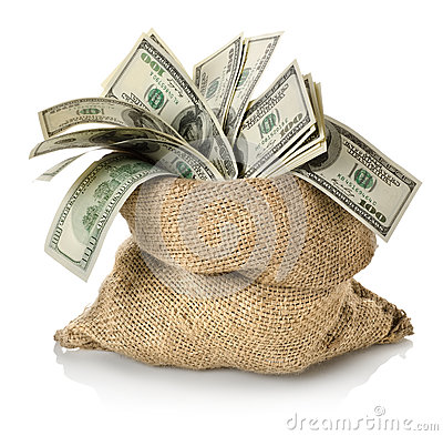 Free Money In The Bag Stock Photos - 28477913