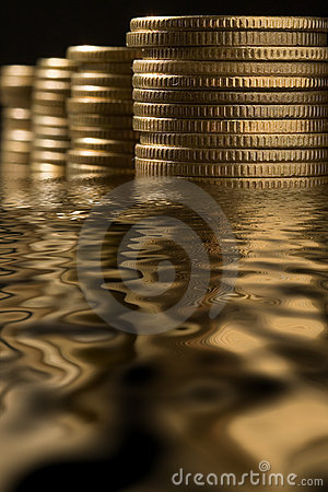 Free Money In Water Stock Images - 2149394