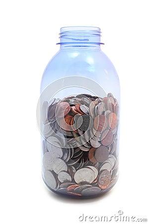 Money Jar - high angle