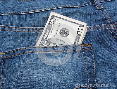 Money and jeans 6