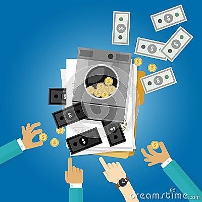 Free Money Laundry Laundering Crime Dollar Clean Symbol Illustration Flat Stock Photos - 69349363