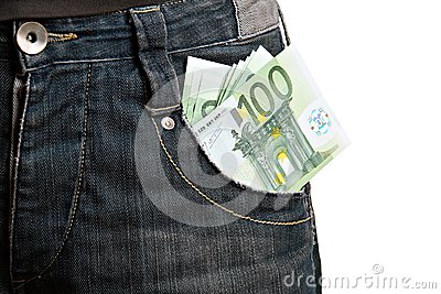 Money in man s pocket