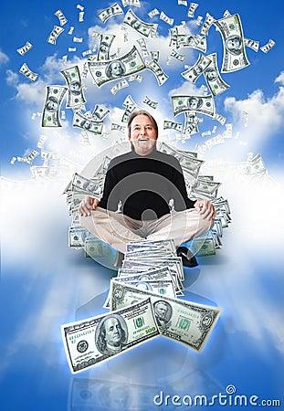 Free Money Man Winning Royalty Free Stock Images - 13823069