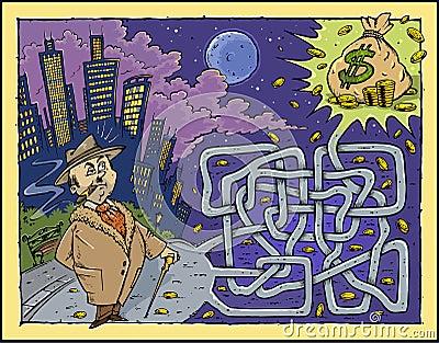 Money Maze Color