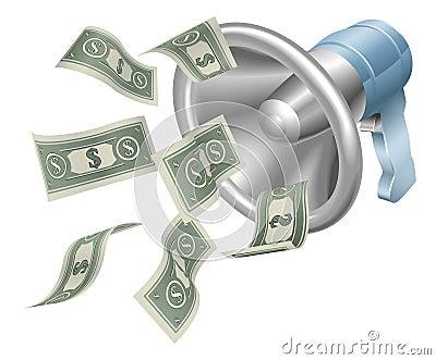 Money megaphone