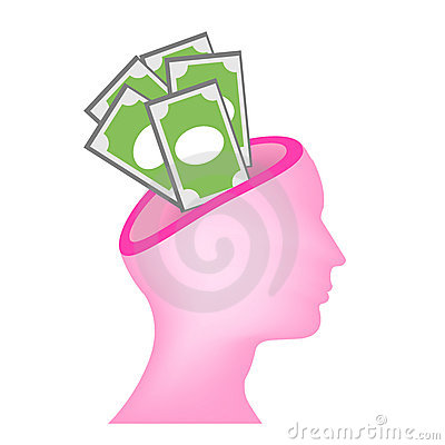 Money on mind vector