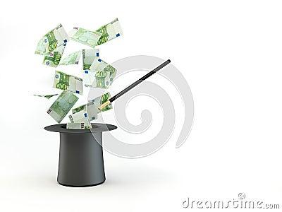Money from nowhere. magic