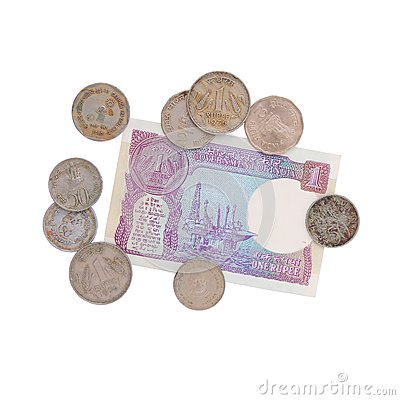 Money - old Indian rupees - collection