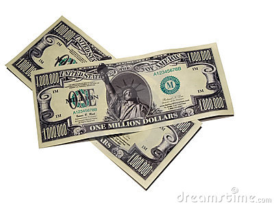 Money - one million dollar bill