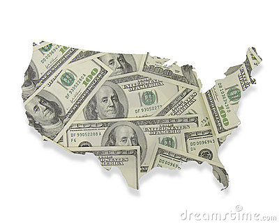 Money Overlaying the United States