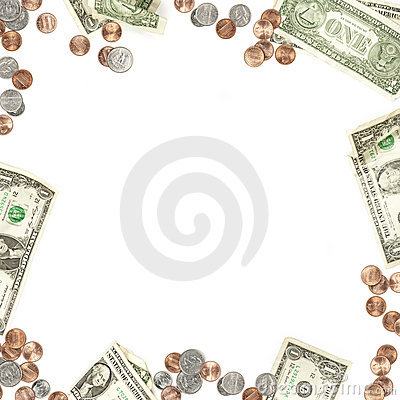 Money Paper and Coin Currency Border